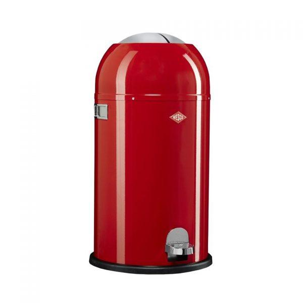 Wesco Kickmaster prullenbak - 33 liter - rood