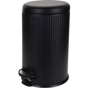 Zwarte vuilnisbak/pedaalemmer 20 liter - Vuilnisemmers/vuilnisbakken/pedaalemmers/prullenbakken