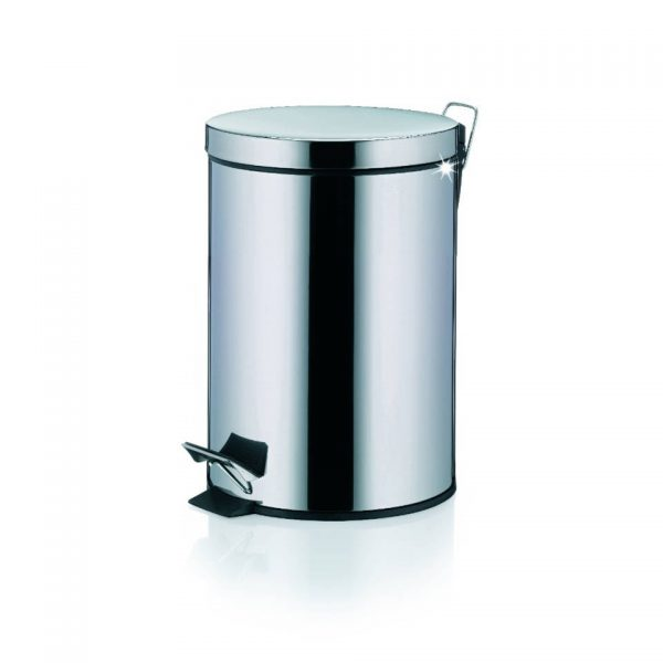 Dusty Pedaal Afvalemmer - 3 liter - Zilver - Kela