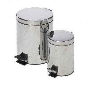 MaxiMondo pedaalemmerset - 3l en 10l - RVS - handig voor toilet