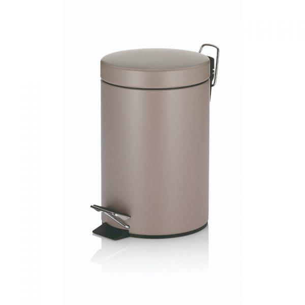 Monaco Pedaal Afvalemmer - 3 liter - Bruin - Kela