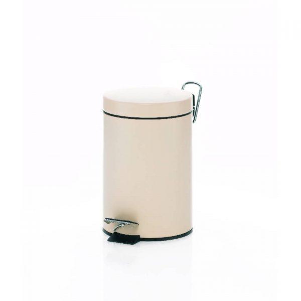 Monaco Pedaal Afvalemmer - 3 liter - Créme - Kela