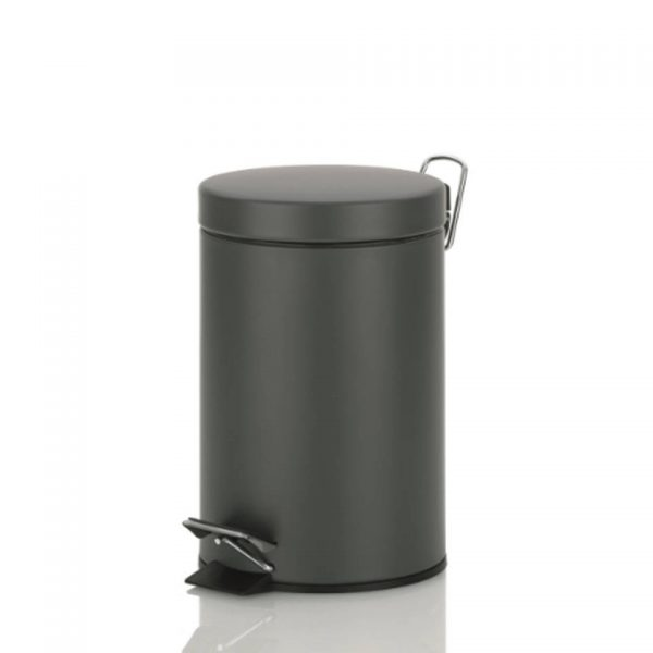 Monaco Pedaal Afvalemmer - 3 liter - Donker Grijs - Kela