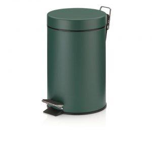 Monaco Pedaal Afvalemmer - 3 liter - Donker Groen - Kela