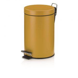 Monaco Pedaal Afvalemmer - 3 liter - Geel - Kela
