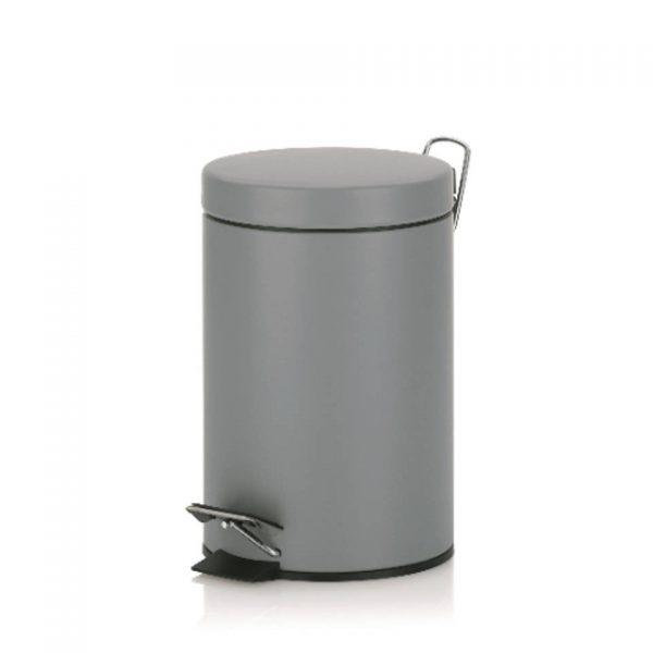 Monaco Pedaal Afvalemmer - 3 liter - Licht Grijs - Kela