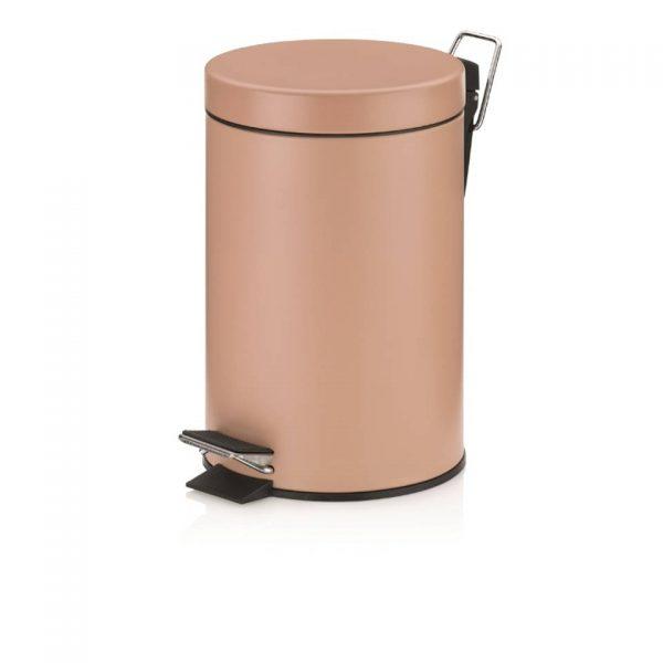 Monaco Pedaal Afvalemmer - 3 liter - Oranje - Kela