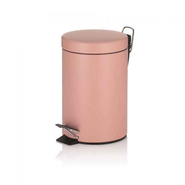 Monaco Pedaal Afvalemmer - 3 liter - Roze - Kela