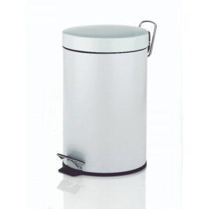 Monaco Pedaal Afvalemmer - 3 liter - Wit - Kela