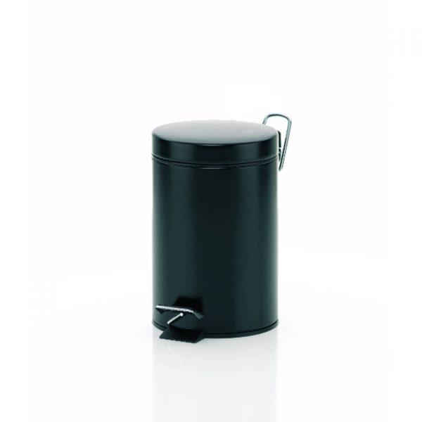 Monaco Pedaal Afvalemmer - 3 liter - Zwart - Kela