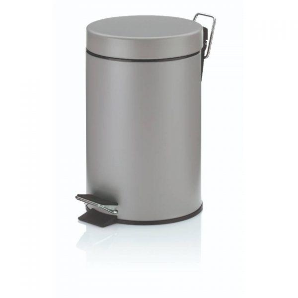 Pedaal Afvalemmer Monaco - 3 liter - Grijs - Kela