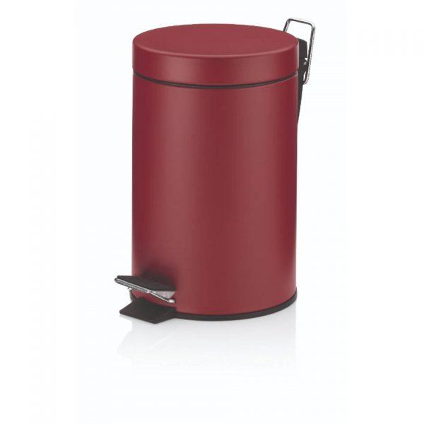 Pedaal Afvalemmer Monaco - 3 liter - Rood - Kela
