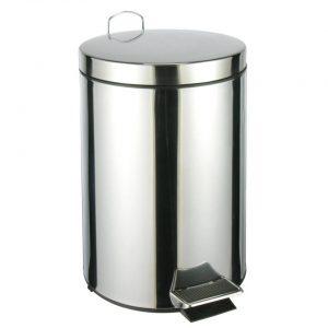 RVS pedaalemmer/vuilnisbak 40 cm 12 liter - Afvalemmers badkamer/toilet/keuken