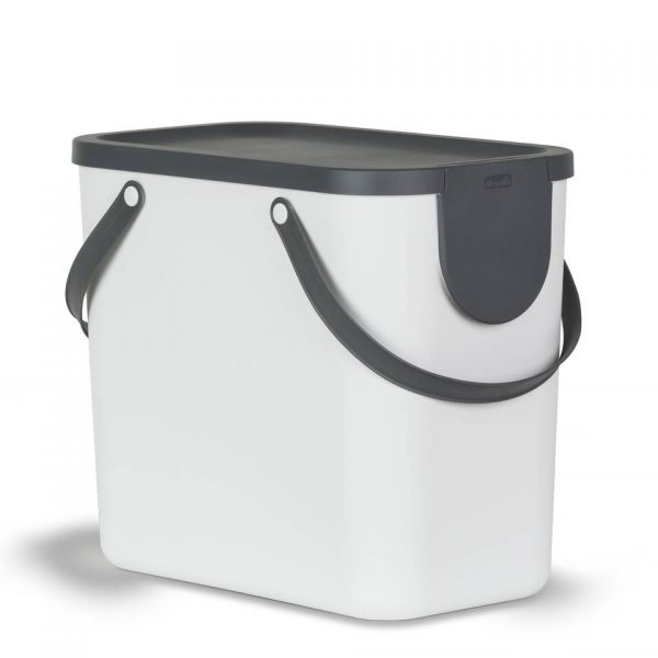 Rotho Albula afvalbak - 25 liter - wit