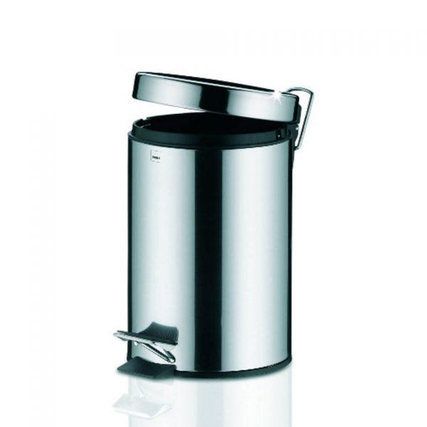Stampa Pedaal Afvalemmer Silent Close - 3 liter - Zilver - Kela