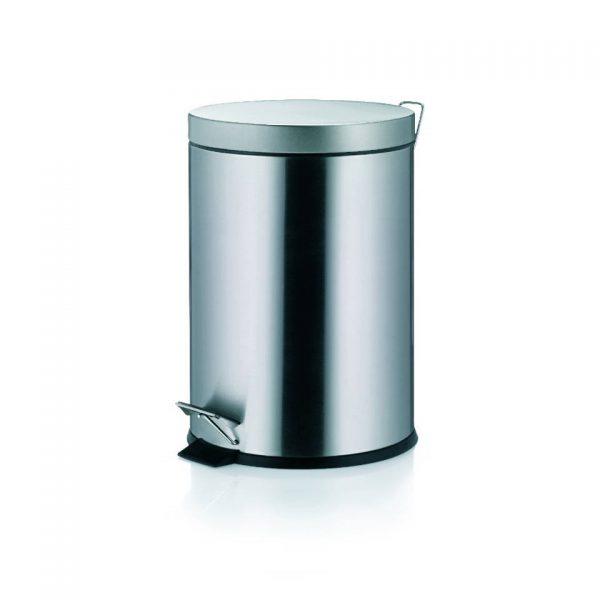 Torre Pedaal Afvalemmer - 3 liter - Zilver - Kela