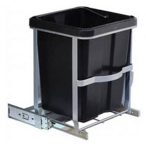 Uitschuifbare prullenbak voor keukenkast 14 liter- Vuilnisemmers/vuilnisbakken/prullenbakken