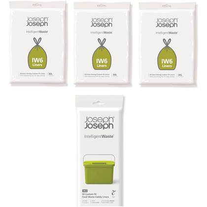 Joseph Joseph Totem 60 Liter Jaarverpakking Afvalzakken - 60 stuks IW6 (30 Liter) + 50 stuks IW2 (4 Liter)