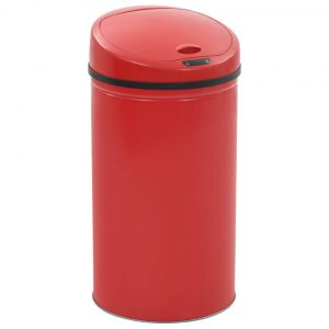 vidaXL Sensorprullenbak 42 L rood
