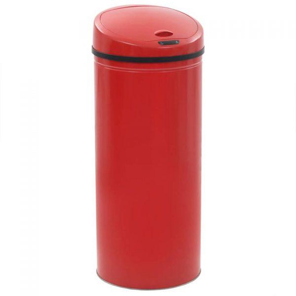 vidaXL Sensorprullenbak 62 L rood