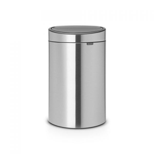 Brabantia Touch Bin Recycle prullenbak - 23/10 L - Matt Steel