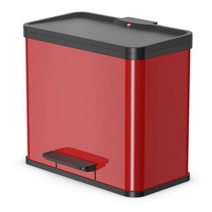 Hailo Pedaalemmer Oko Duo Plus maat L 17+9 L rood 0630-240