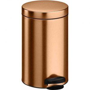 Koper kleur vuilnisbak/pedaalemmer 14 liter - Vuilnisemmers/vuilnisbakken/pedaalemmers/prullenbakken