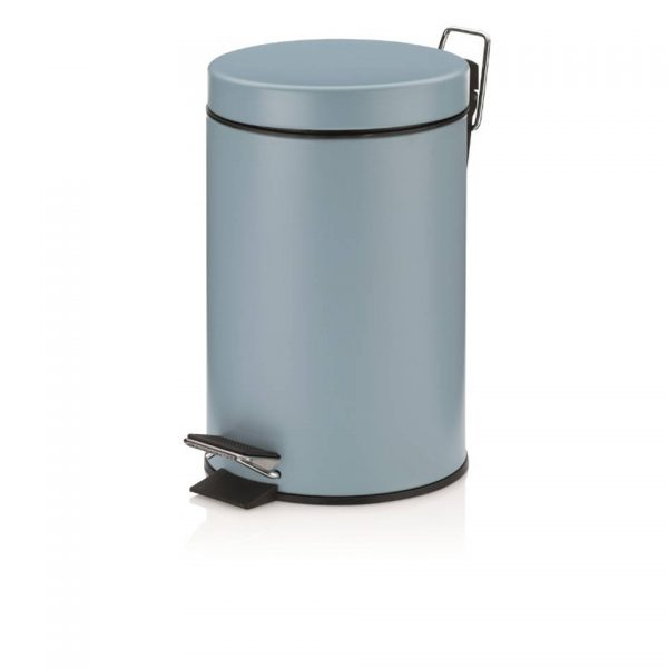 Monaco Pedaal Afvalemmer - 3 liter - Licht Blauw - Kela