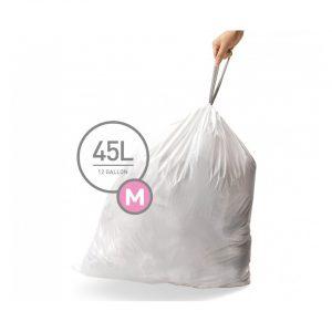 Simplehuman afvalzakken Code M voor 45 liter - 20 stuks