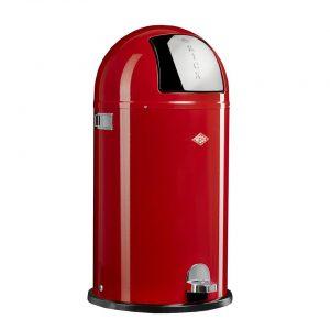 Wesco Kickboy prullenbak - 40 liter - rood