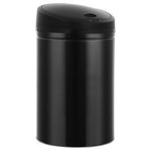 vidaXL Prullenbak met automatische sensor 52 L zwart