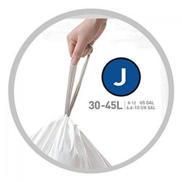 Afvalzakken code j