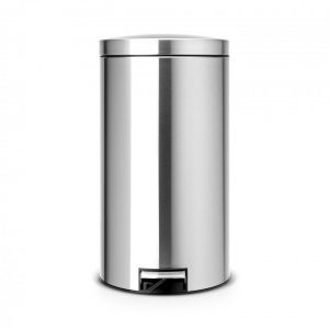 Brabantia Recycle pedaalemmer 2 x 20 liter met 2 kunststof binnenemmers - Matt Steel Fingerprint Proof