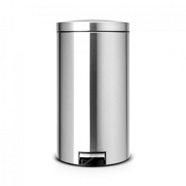 Brabantia Recycle pedaalemmer 2 x 20 liter met 2 kunststof binnenemmers - Matt Steel Fingerprint Proof