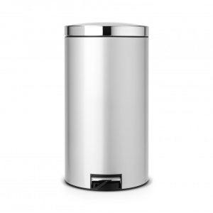 Brabantia Silent pedaalemmer 45 liter met kunststof binnenemmer - Metallic Grey / Brilliant Steel
