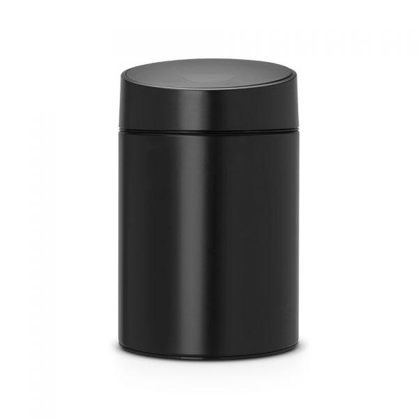 Brabantia Slide Bin wandafvalemmer 5 liter met kunststof binnenemmer - Black / Black