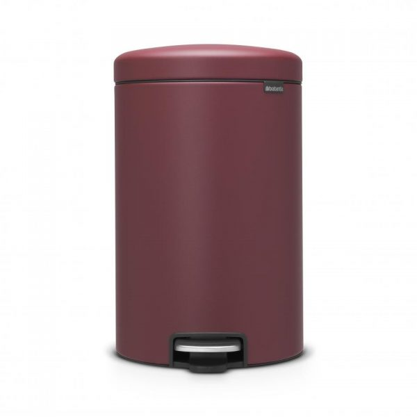 Brabantia newIcon pedaalemmer - 20 l - Mineral Windsor Red