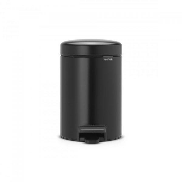 Brabantia newIcon pedaalemmer 3 liter met kunststof binnenemmer - Matt Black