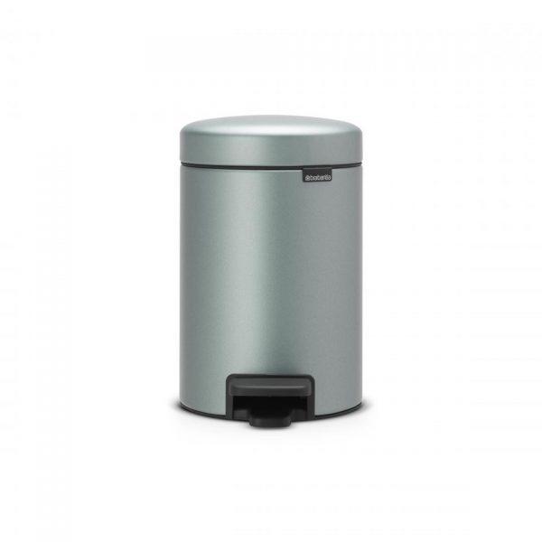 Brabantia newIcon pedaalemmer 3 liter met kunststof binnenemmer - Metallic Mint