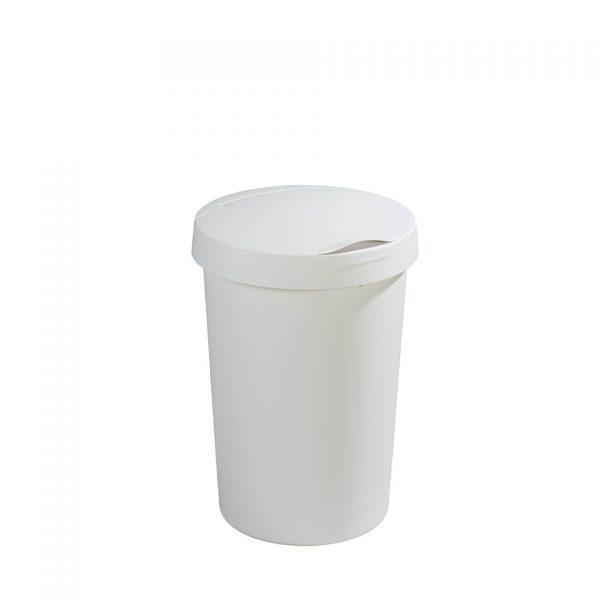 Sunware afvalbak met klep deksel - 45 l - wit