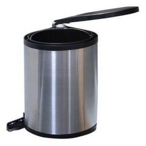 Uitschuifbare RVS prullenbak voor keukenkast 12 liter- Vuilnisemmers/vuilnisbakken/prullenbakken