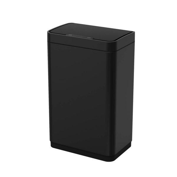 4cookz Iowa Matt Stainless Sensor Prullenbak - 50 Liter - Mat Zwart