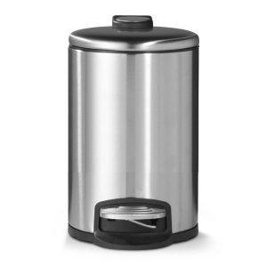 Blokker Pedaalemmer - Mat Staal - 12 Liter