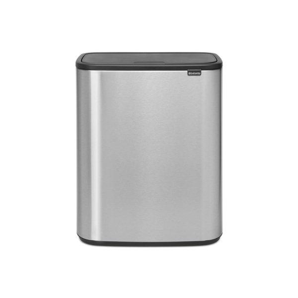 Brabantia Bo Touch Bin Afvalemmer 2 X 30 Liter Met 2 Kunststof Binnenemmers - Matt Steel Fingerprint Proof