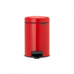 Brabantia Newicon Pedaalemmer 3 Liter Met Kunststof Binnenemmer - Passion Red