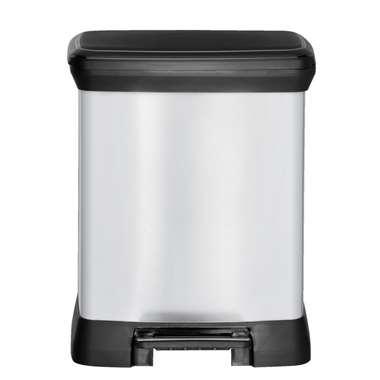 Curver afvalbak Decobin - zilverkleur - 30l - Leen Bakker