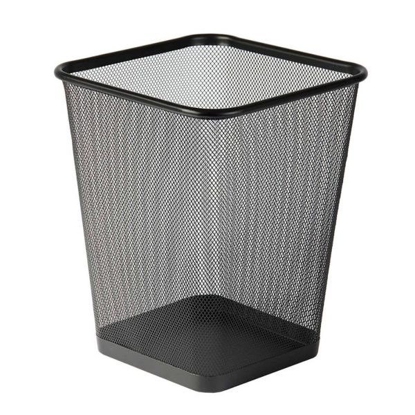 Design Vierkante Prullenbak Van Metaal Voor Kantoor Of Thuis - Mesh