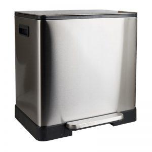 Pedaalemmer - zilverkleurig - 2x20 l - Xenos