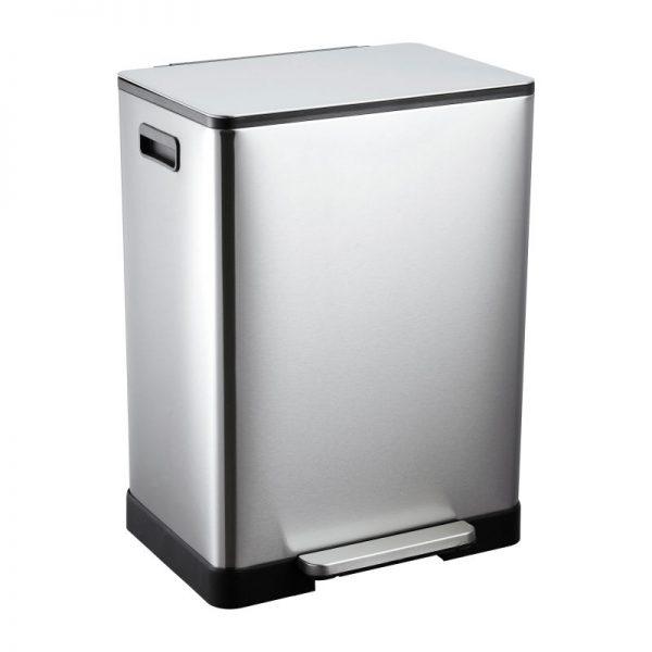 Pedaalemmer - zilverkleurig - 2x30 l - Xenos