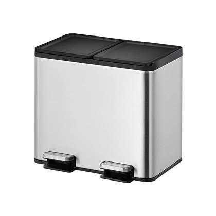 """""""EKO Essential Recycler Pedaalemmer 20 Liter (10+10L) - RVS """""""